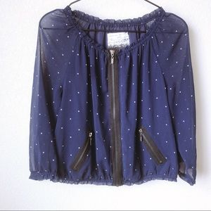 Women's zippered front blouse size small
